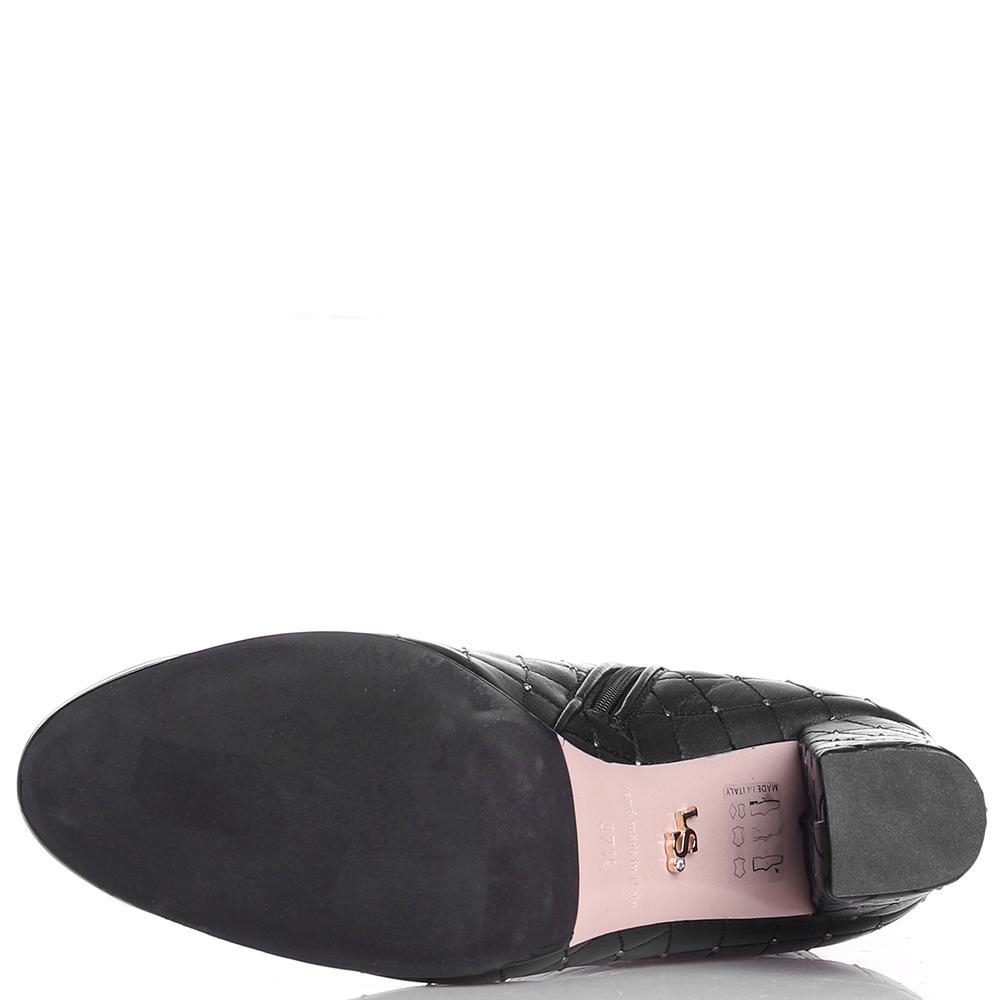 Стеганные ботильоны Le Silla с лаковым носочком