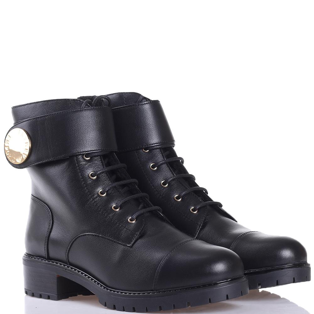 Ботинки Emporio Armani с золотистым декором