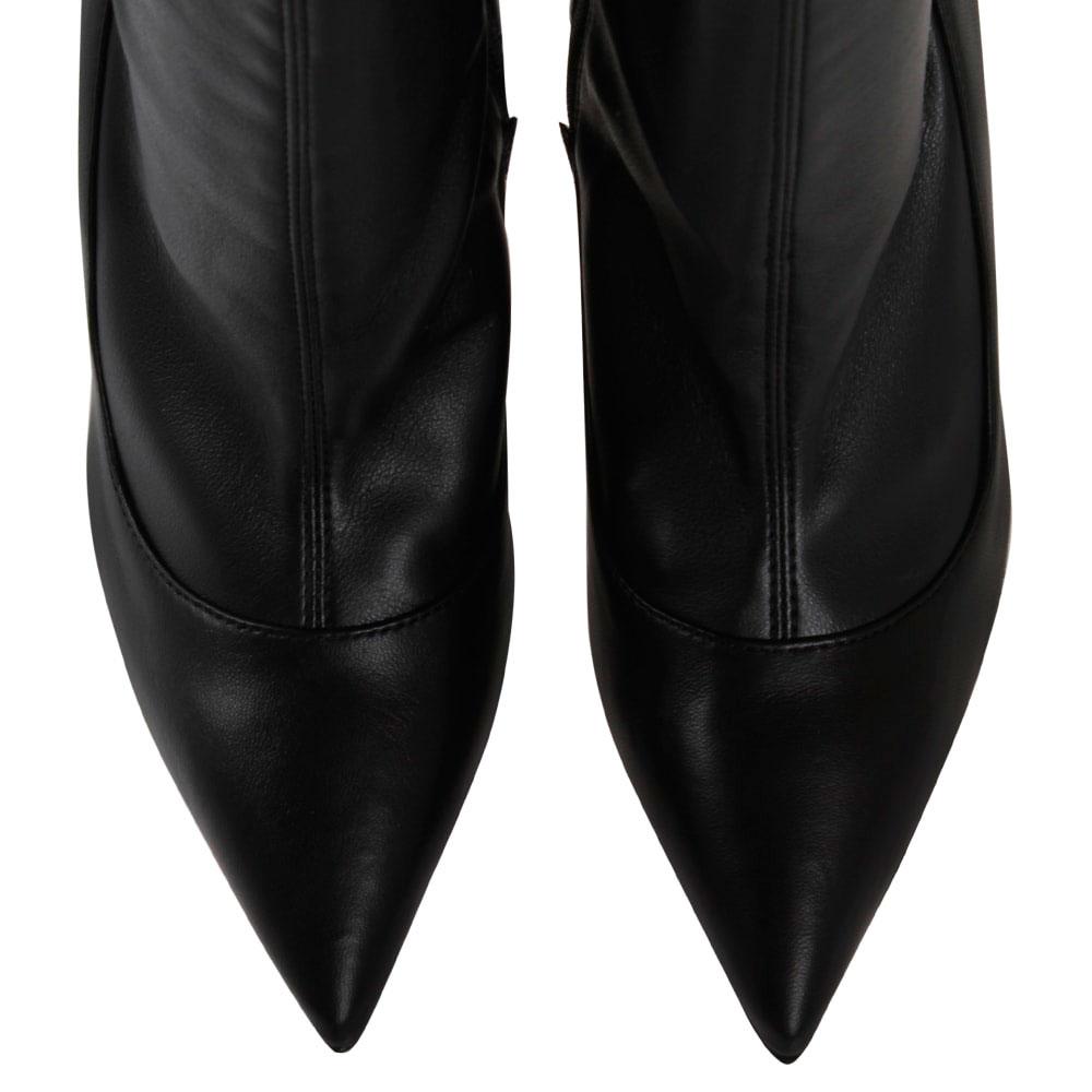 Ботфорты из мягкой черной кожи Elisabetta Franchi на шпильке