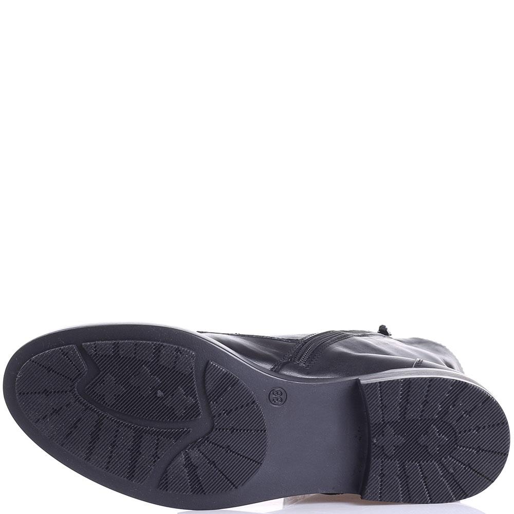 Ботинки Tosca Blu черного цвета с декором-заклепками