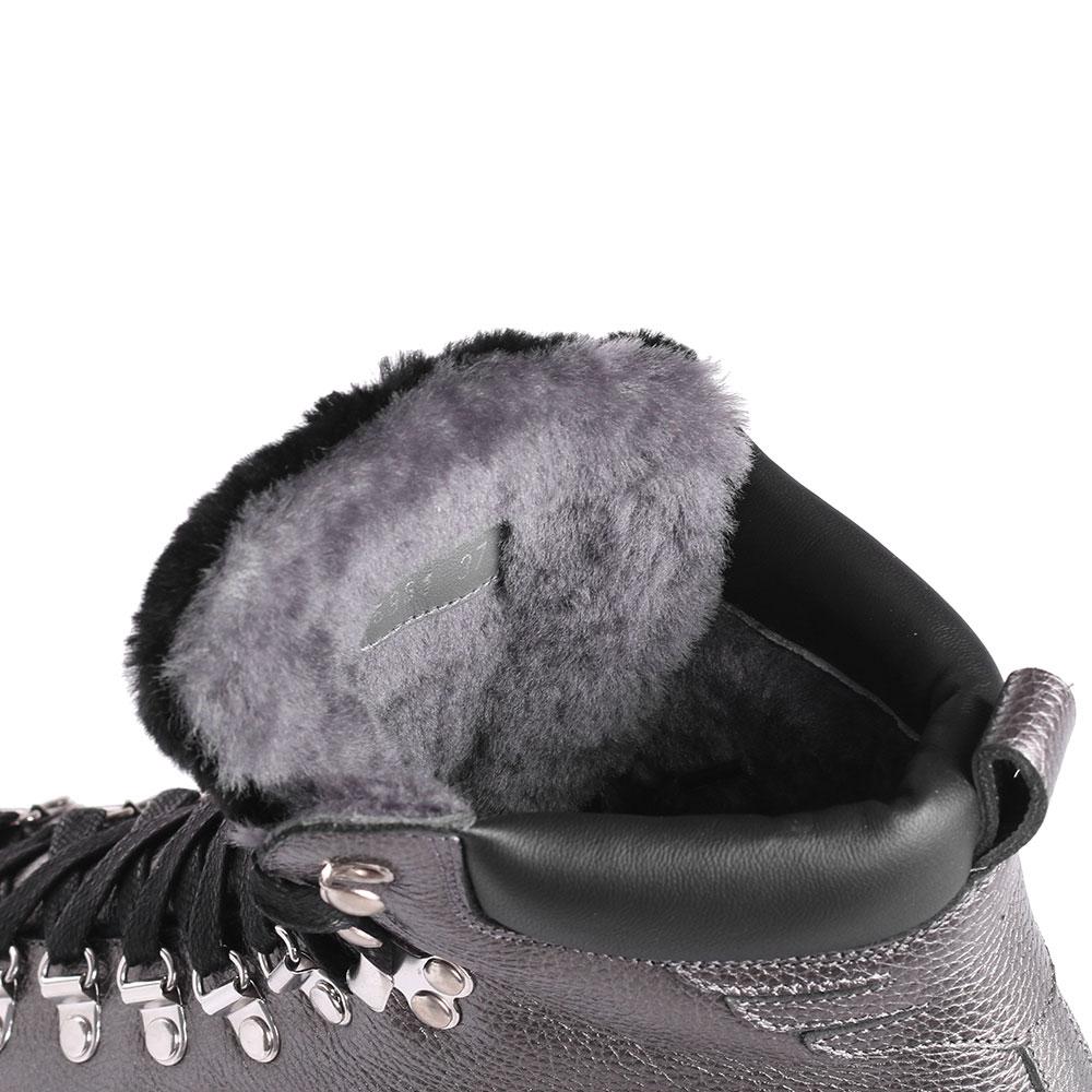 Ботинки из зернистой кожи John Richmond на рельефной подошве