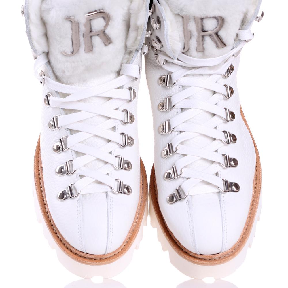 Ботинки John Richmond белого цвета на платформе