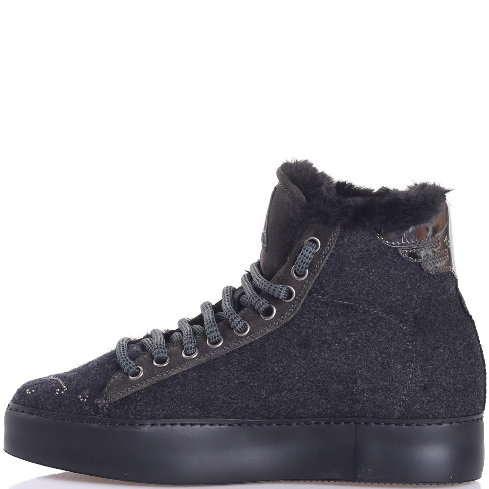 Зимние ботинки John Richmond со стразами
