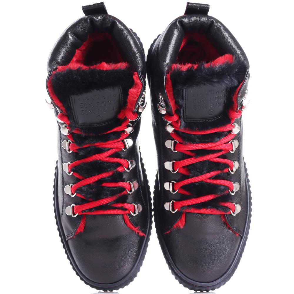 Черные ботинки John Richmond на толстой подошве