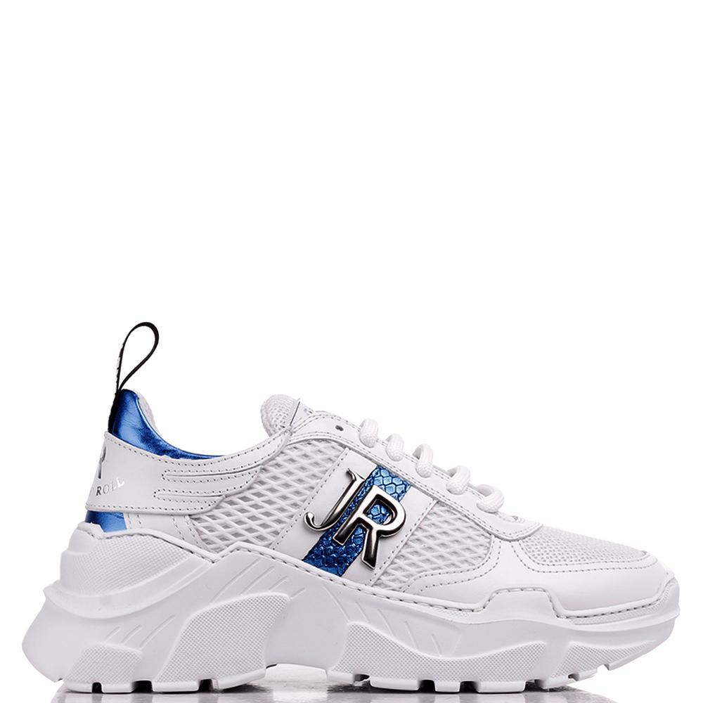 Белые кроссовки John Richmond с синими вставками