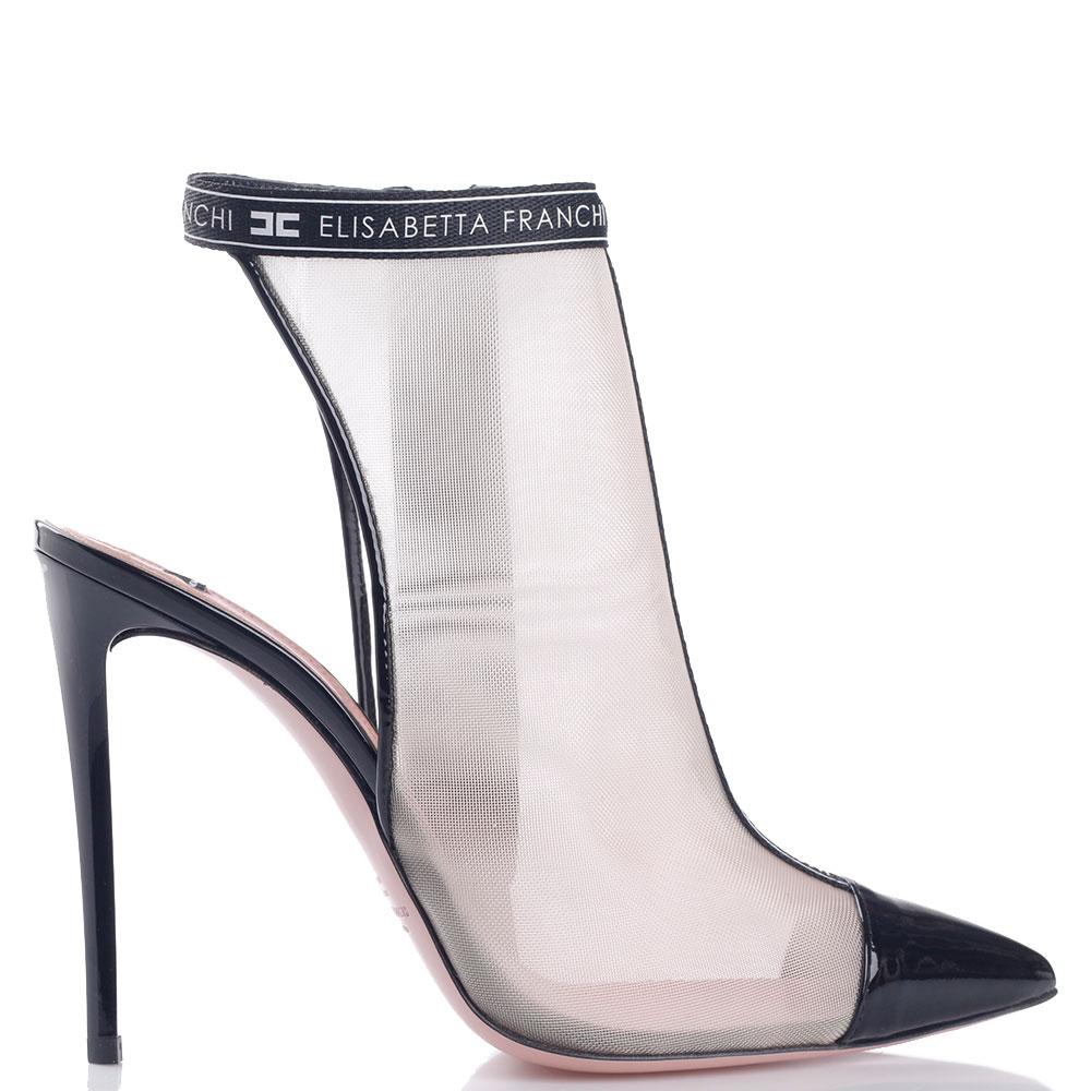 Босоножки Elisabetta Franchi с лаковым острым носком