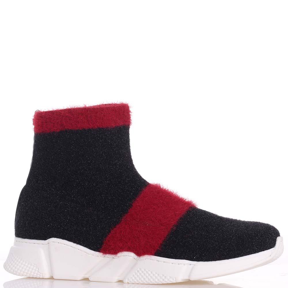 Черные ботинки Elisabetta Franchi на толстой подошве