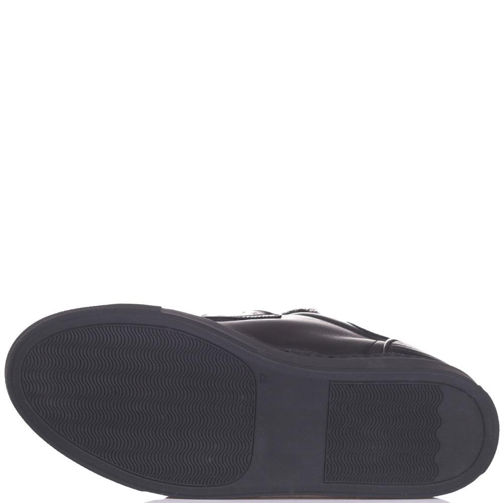 Кеды на липучке Frankie Morello черного цвета с металлическим декором