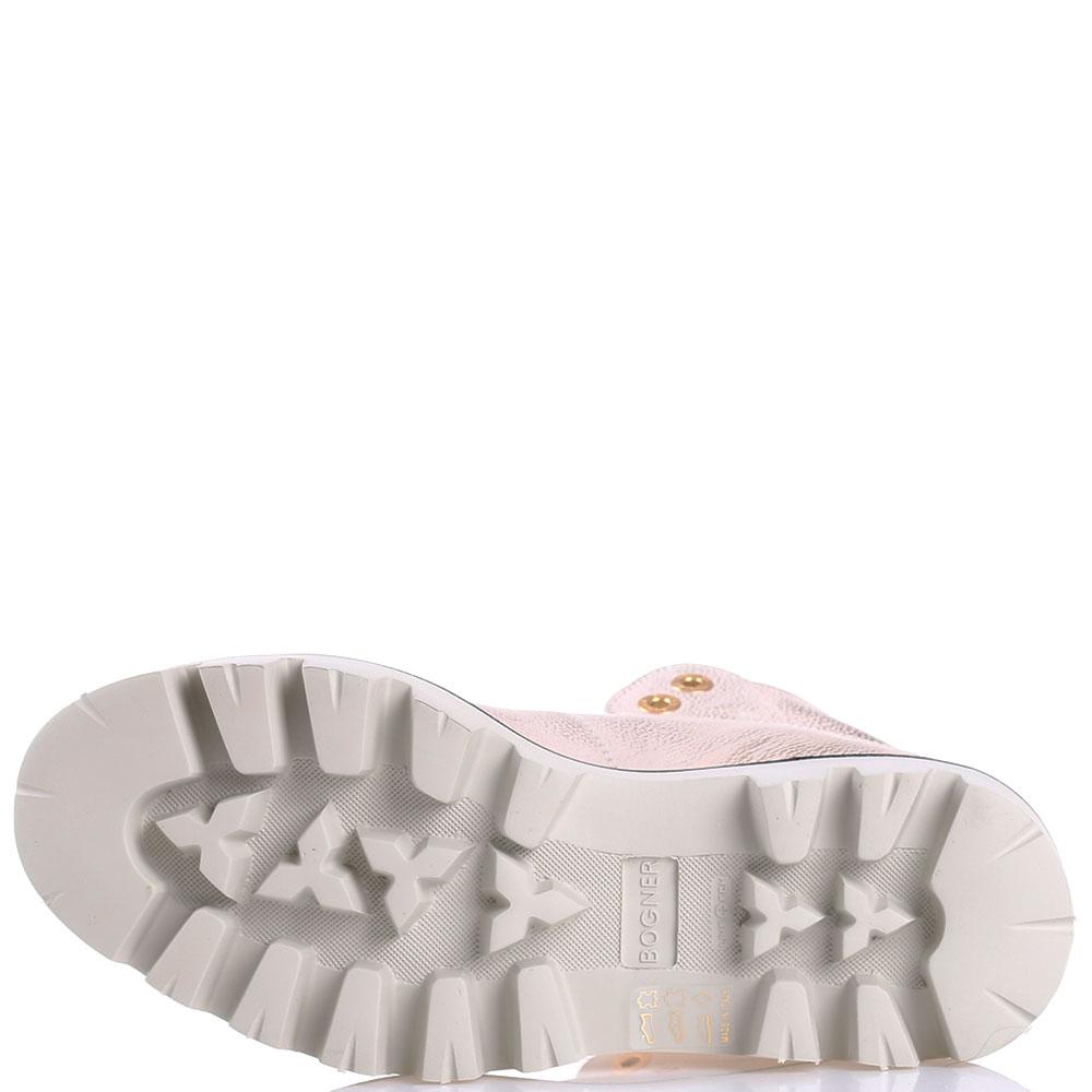 Розовые ботинки Bogner на меху