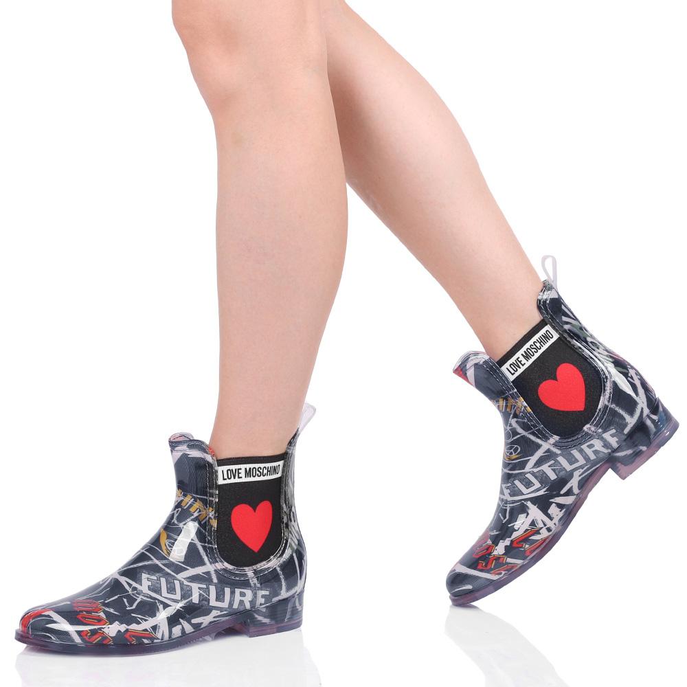 Ботинки-челси Love Moschino с принтом