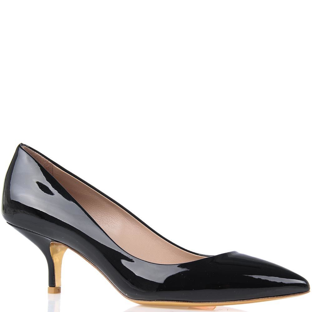 Туфли Giordano Torresi Torino на небольшом каблуке с заостренным носочком