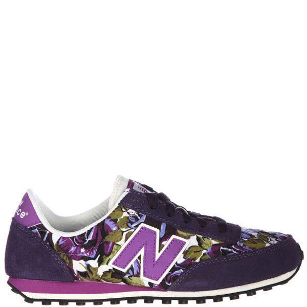 Кроссовки New Balance женские фиолетового цвета с цветочным принтом