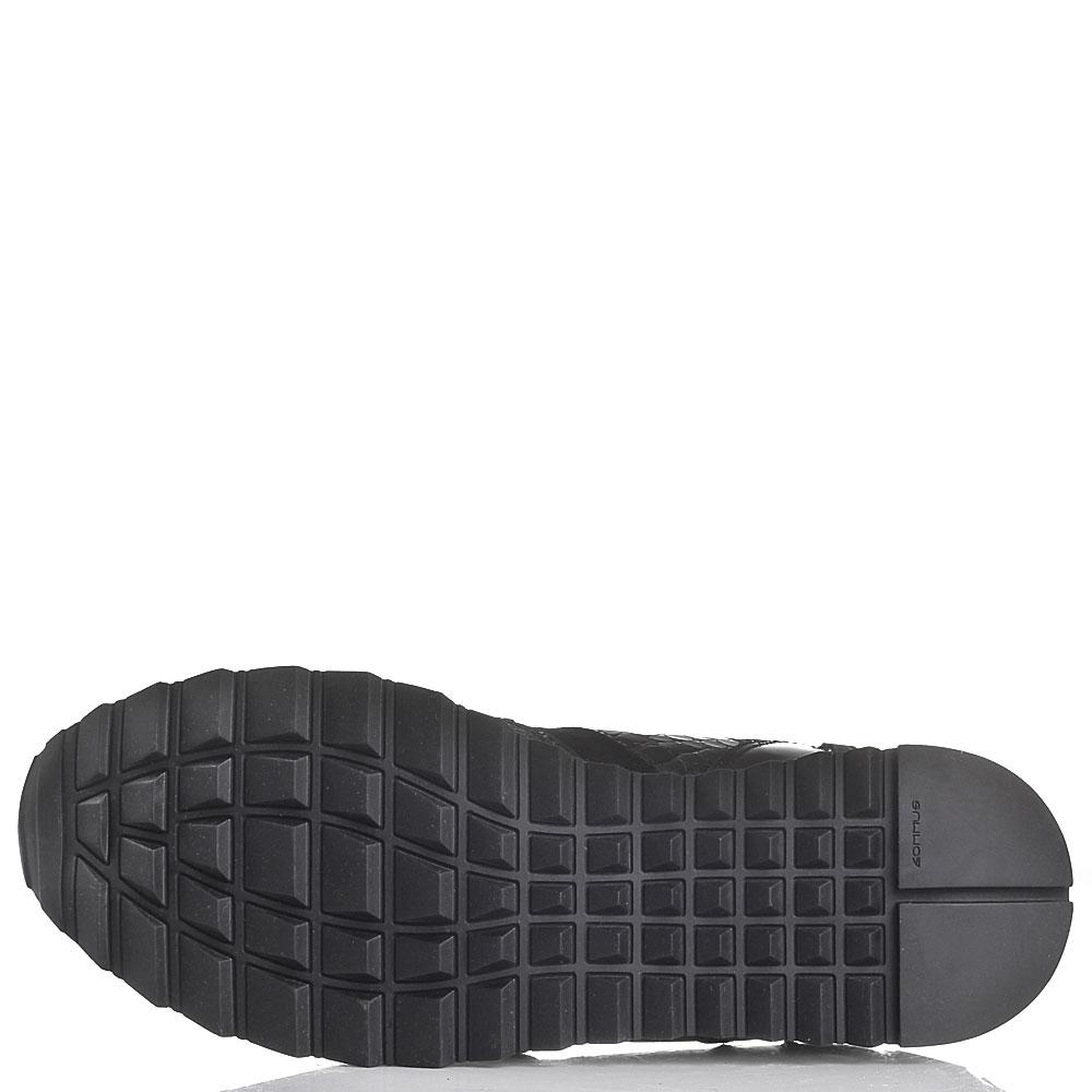 Черные кроссовки Iceberg из замши и кожи