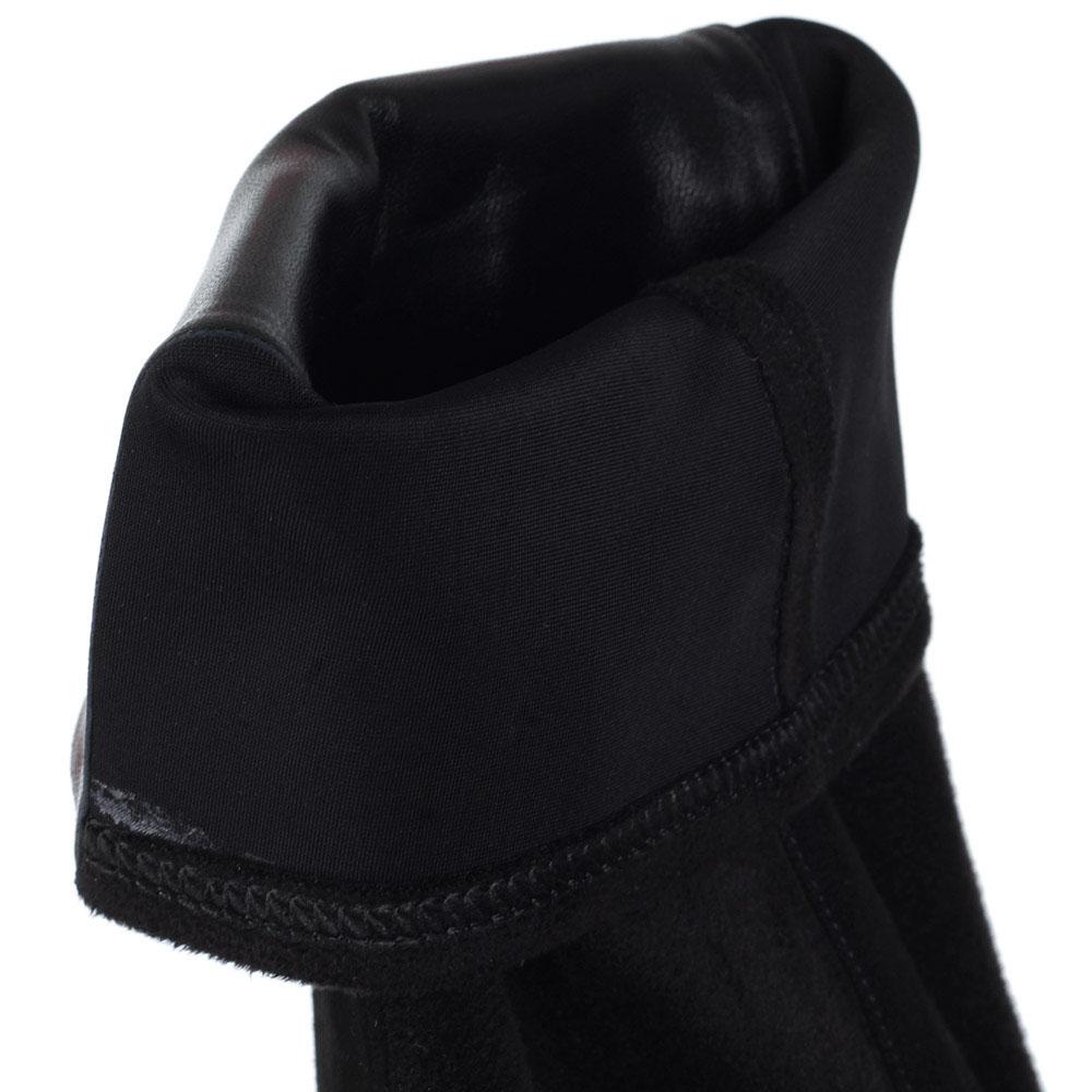 Замшевые сапоги-ботфорты Iceberg черного цвета на толстой белой подошве