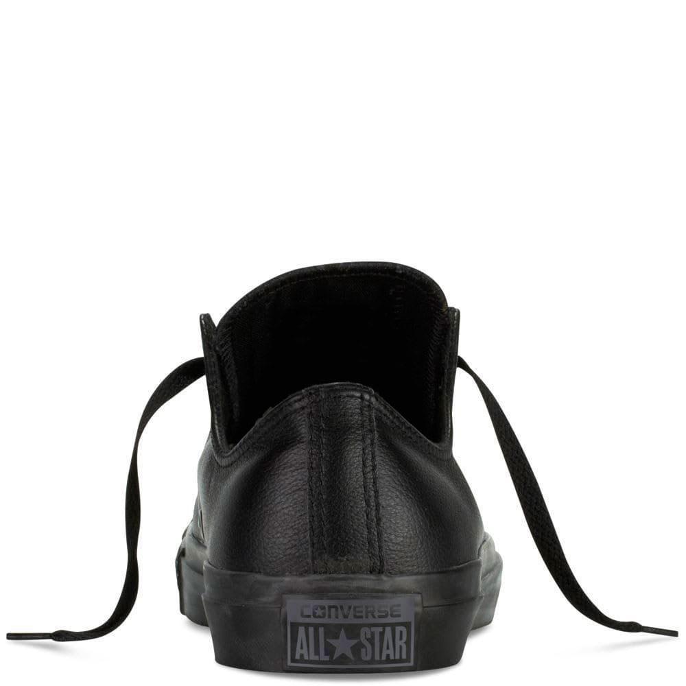 Кеды Converse из кожи черного цвета