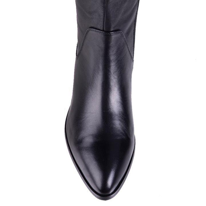 Кожаные сапоги на низком ходу Grado с зауженным носком