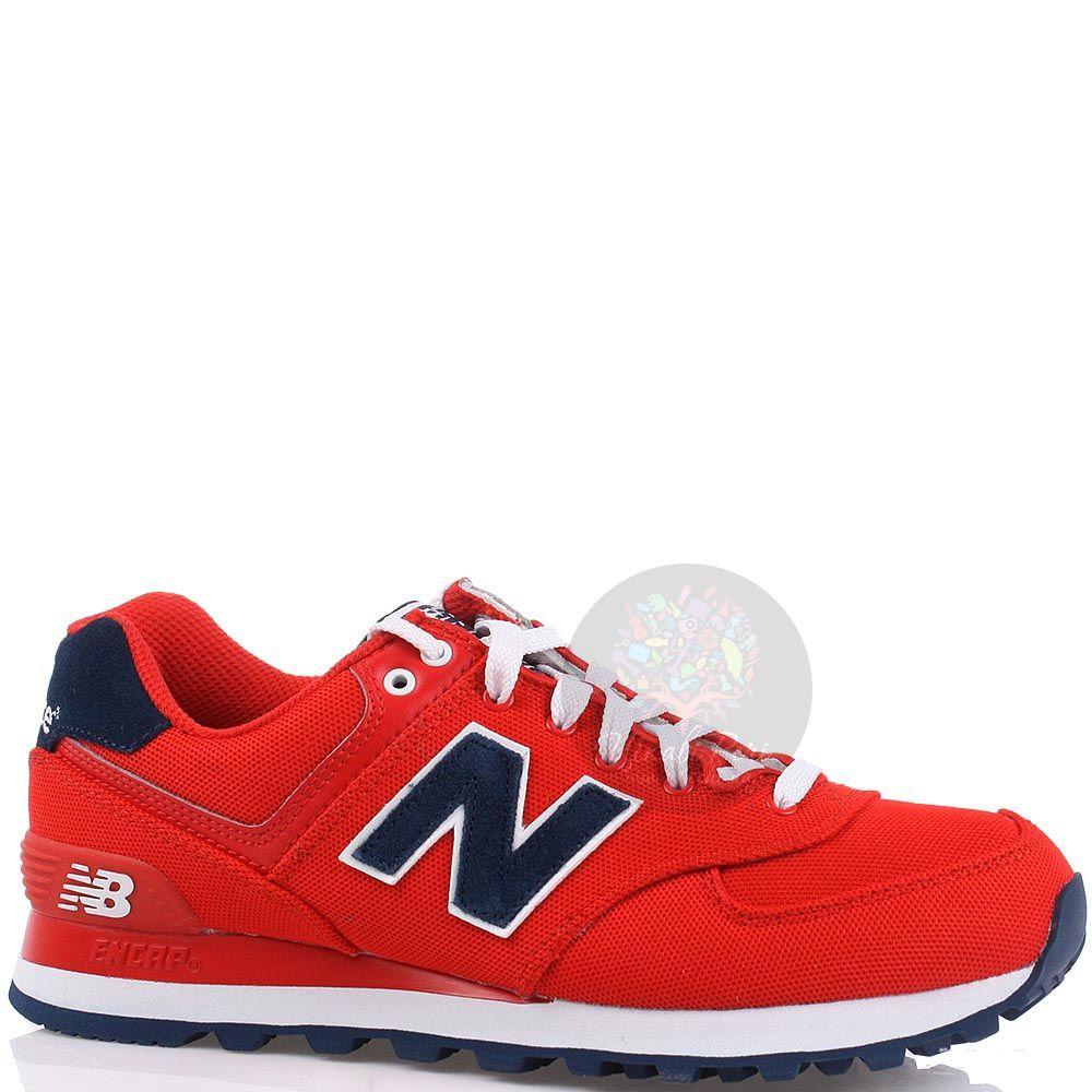 Кроссовки New Balance женские 574 POLO Pack красного цвета