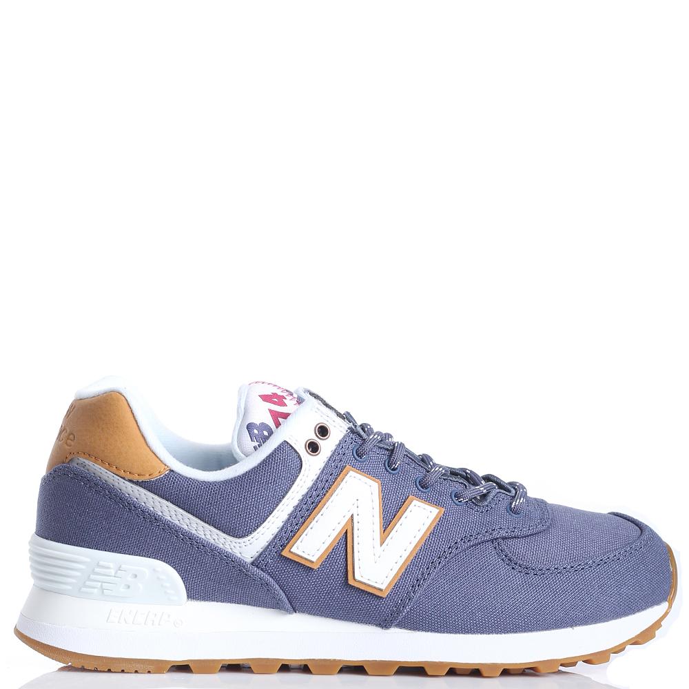 ☆ Женские кроссовки New Balance 574 синего цвета WL574SYD-o ... 9574bae59f7