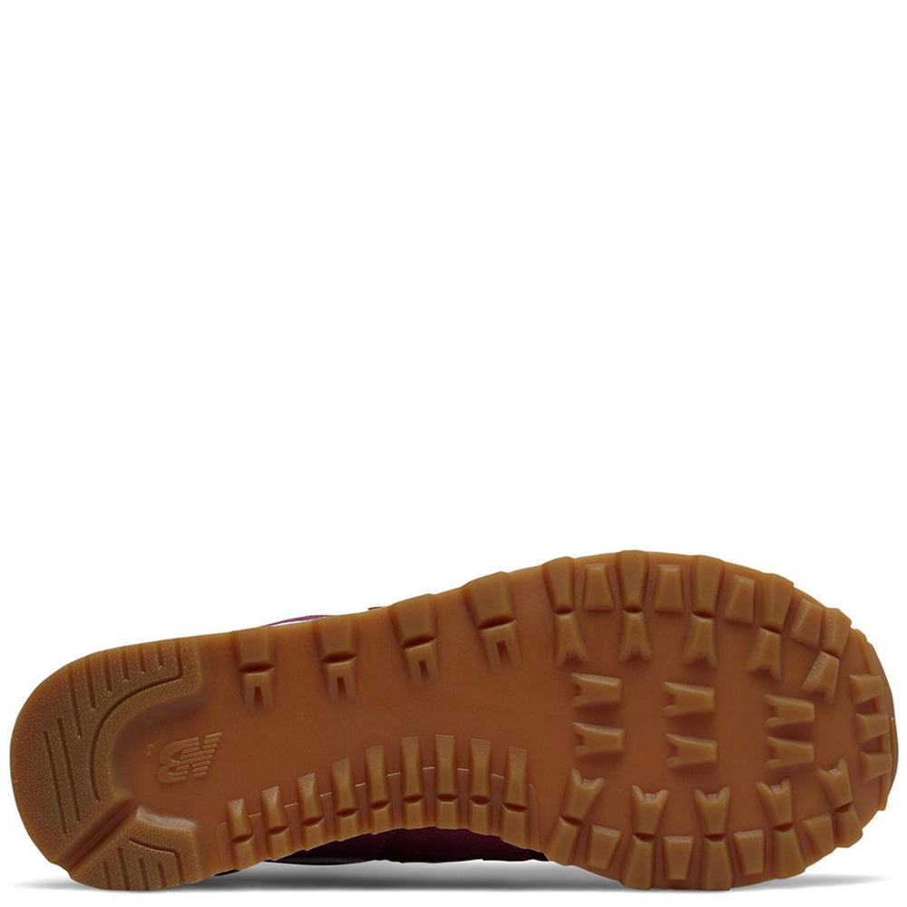 Женские кроссовки New Balance 574 бордового цвета