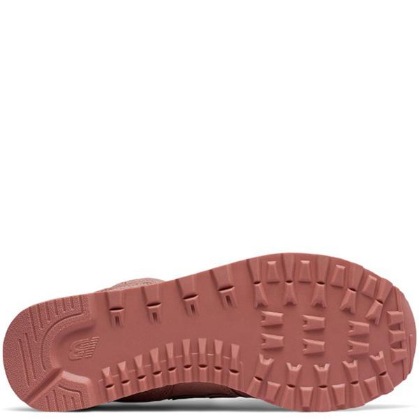 Женские кроссовки New Balance 574 кораллового цвета