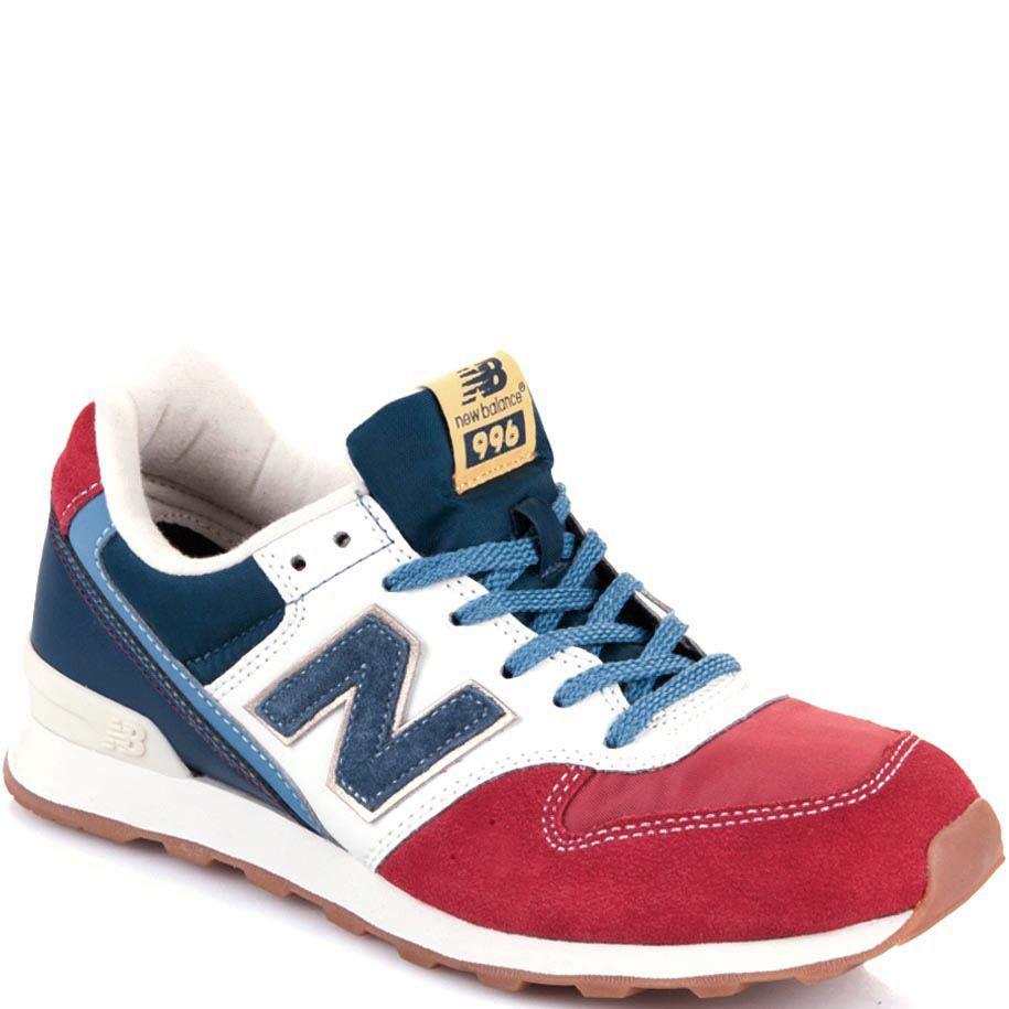 Женские кроссовки New Balance 996 в сочетании красного, синего и белого цветов