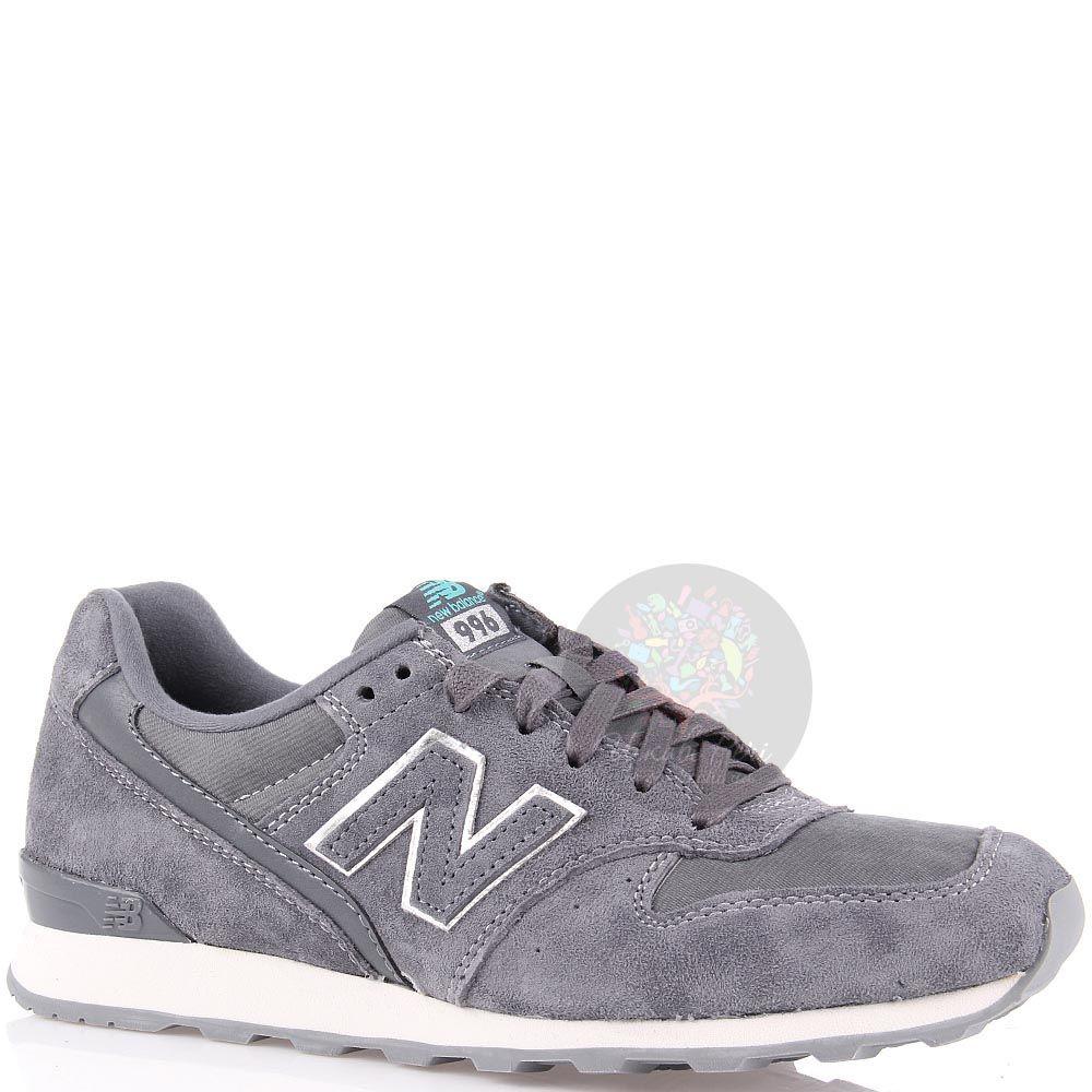 Кроссовки New Balance женские серого цвета замшевые
