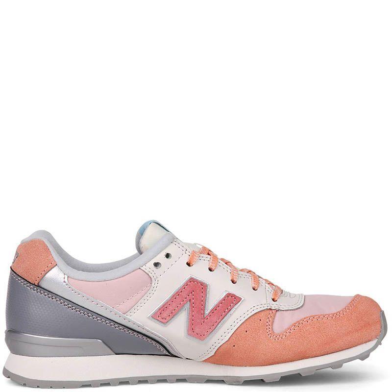 Кроссовки New Balance женские кожаные нежного розового оттенка