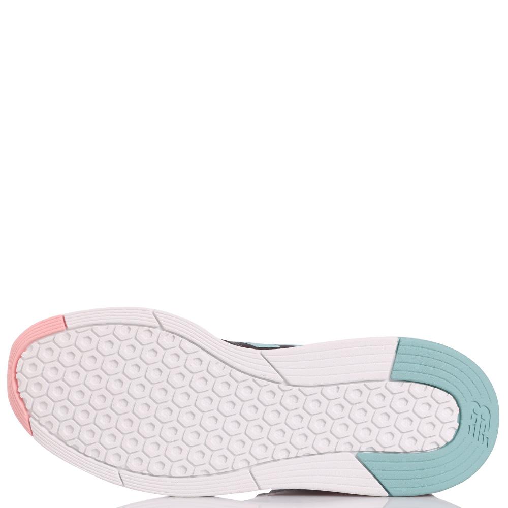 Серые кроссовки New Balance 247 Tritium с розово-голубыми вставками