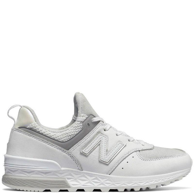 Кожаные кроссовки New Balance 574 белого цвета