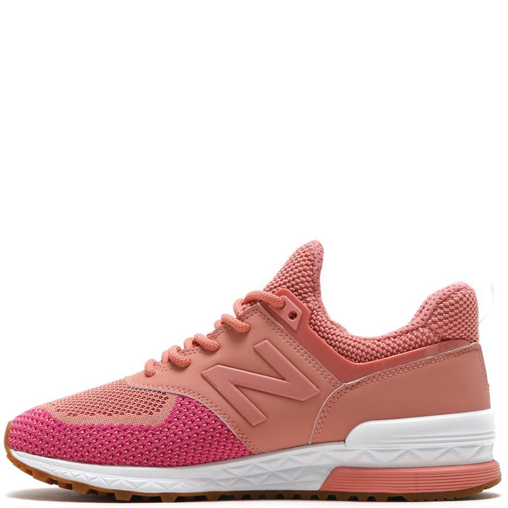 Женские кроссовки New Balance 574 оранжевого цвета