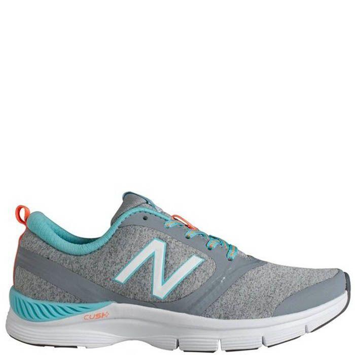 Кроссовки New Balance женские для спортзала серого цвета с бирюзовым