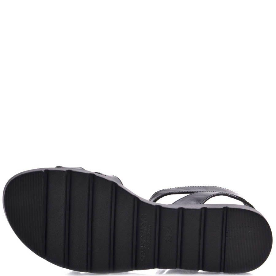 Сандалии Prego женские спортивные черного цвета с пряжками