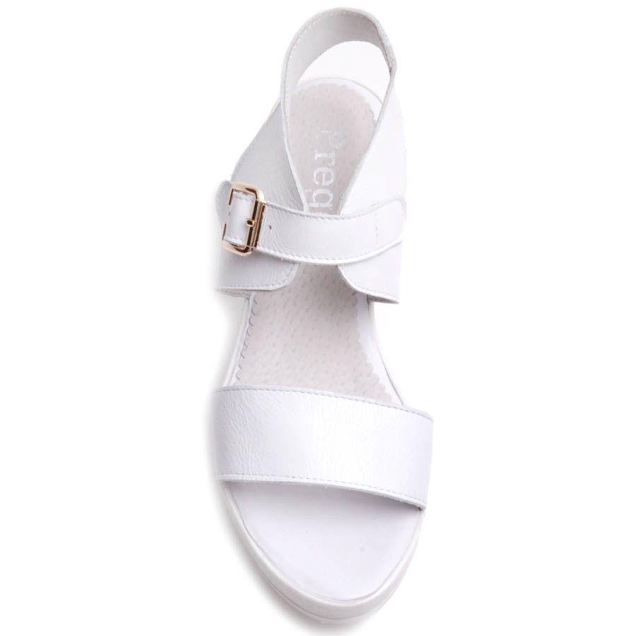 Сандалии Prego спортивные на широкой подошве полностью белые