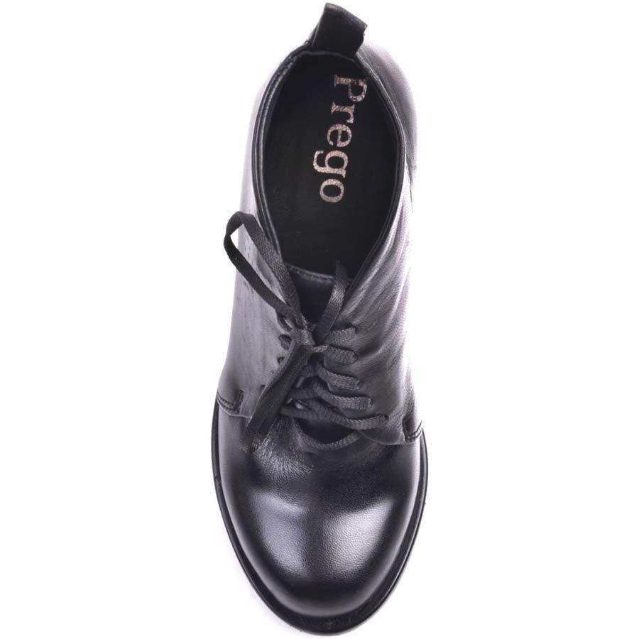Ботильоны Prego кожаные черного цвета с окрыглым верхов