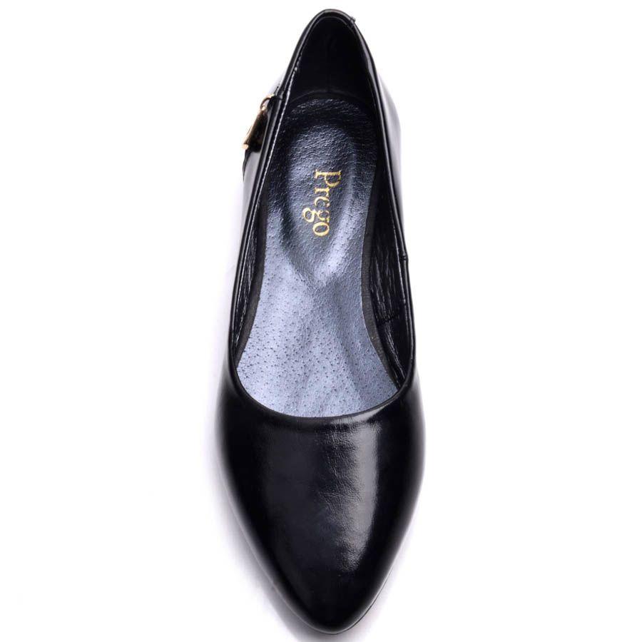 Кожаные балетки Prego черного цвета с декоративной молнией на пятке