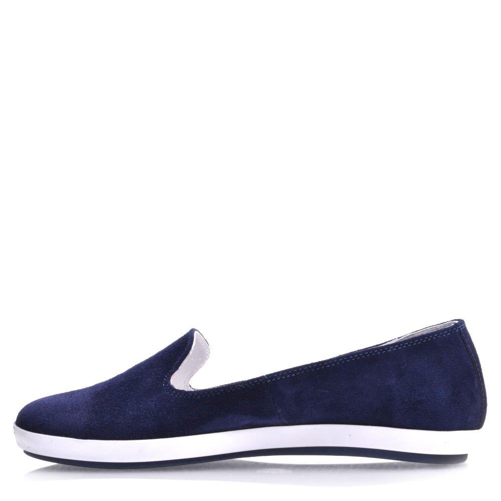 Слиперы Prego женские замшевые синего цвета