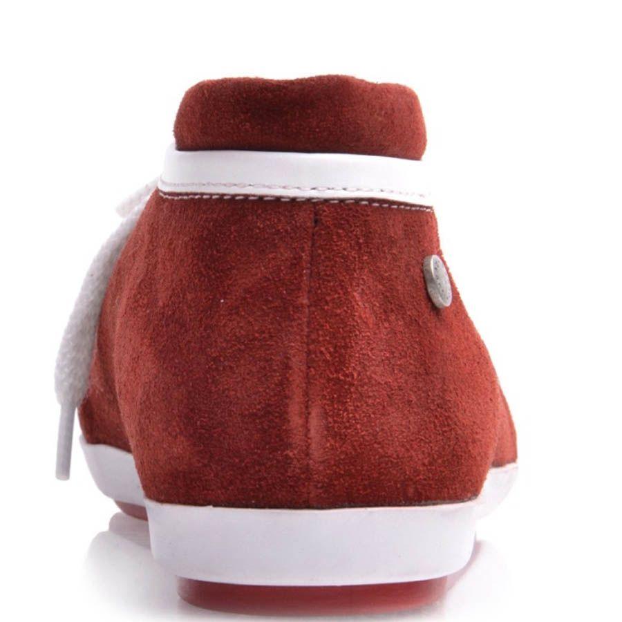 Кеды Prego женские замшевые красного цвета