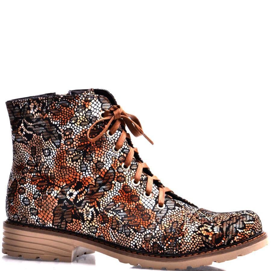 Ботинки Grado женские с принтом коричневого оттенка