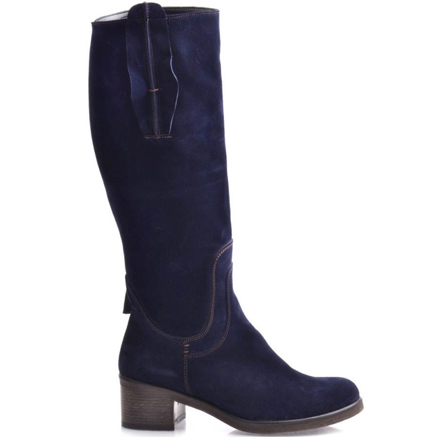 Сапоги Grado замшевые синего цвета с круглым носком