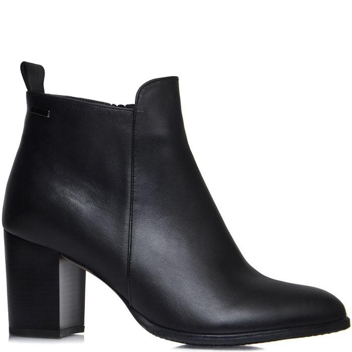 Кожаные ботинки Prego из натуральной кожи черного цвета