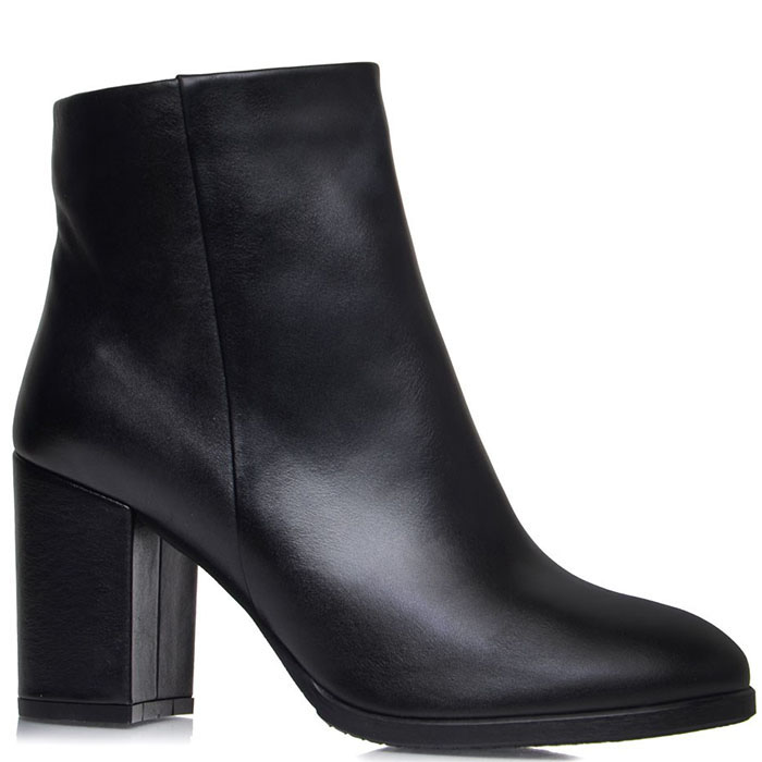 Высокие ботинки Prego из натуральной кожи черного цвета