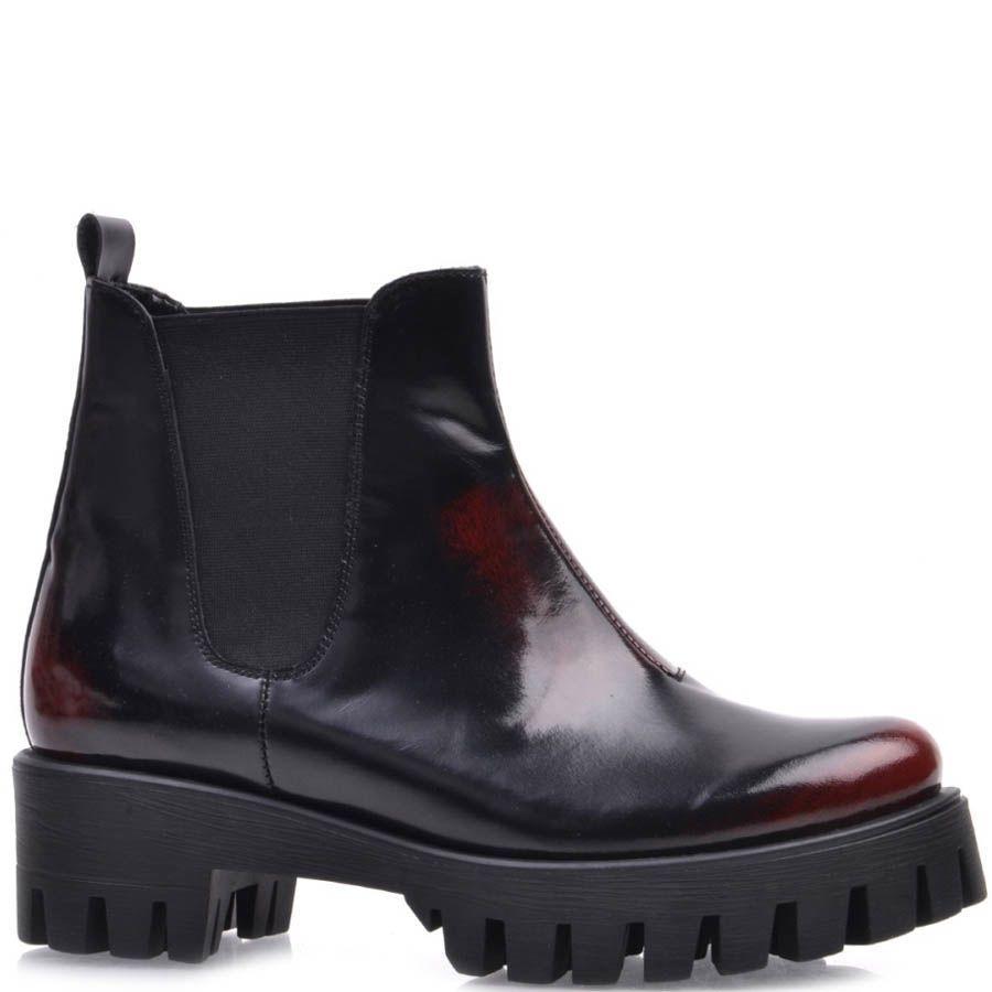 Ботинки-дерби Prego черные с красным