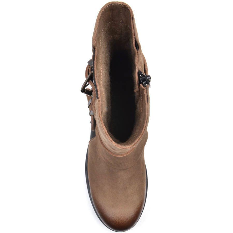 Ботинки Prego из нубука коричневого цвета с тремя пряжками