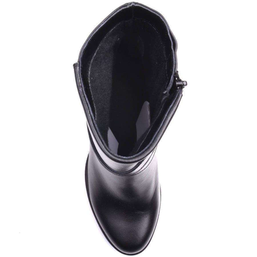 Полусапожки Prego черного цвета из гладкой кожи декорированые пряжкой