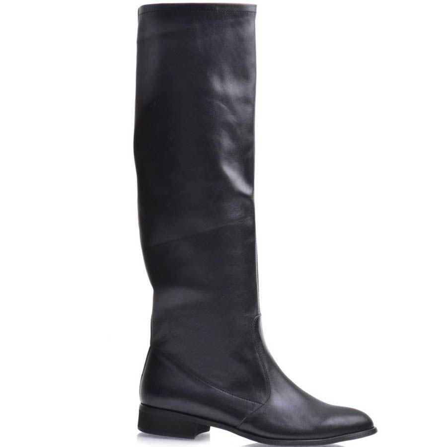 Сапоги Grado черного цвета кожаные