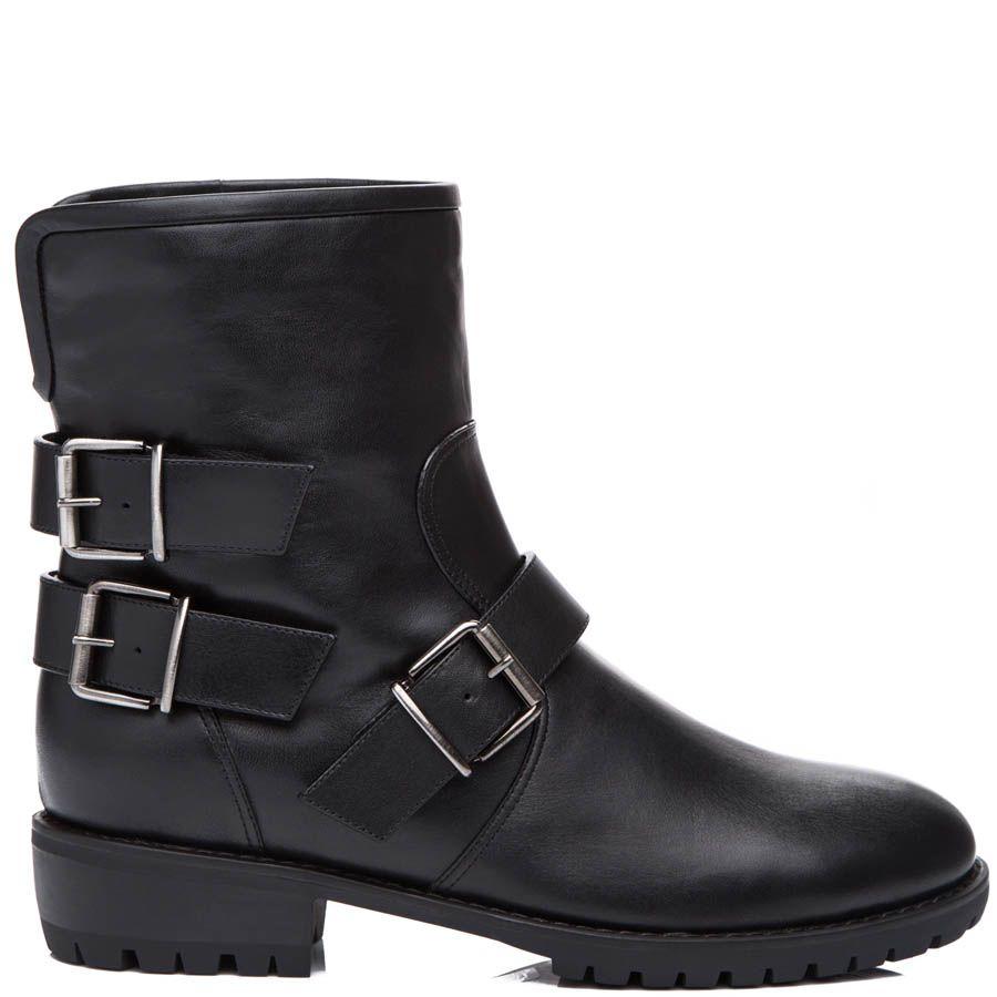 Ботинки Giuseppe Zanotti зимние черного цвета с пряжками