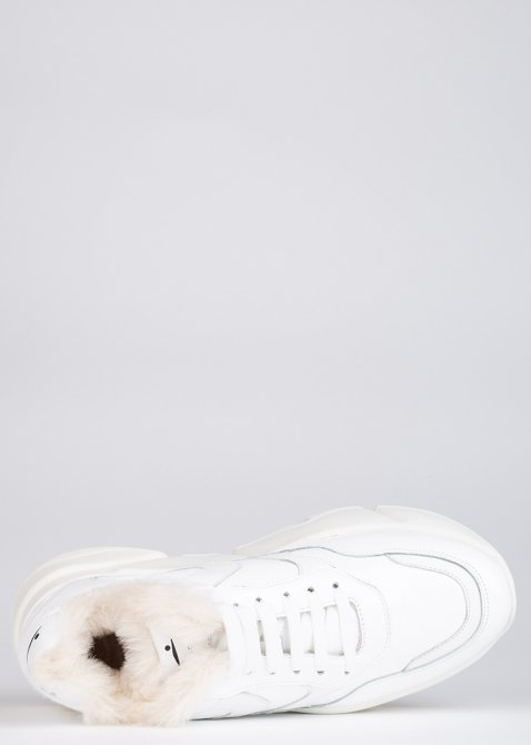 Лаковые кроссовки Voile Blanche Monster белого цвета, фото