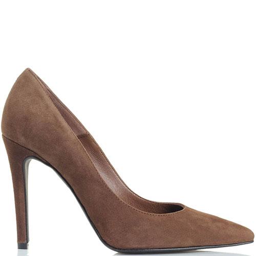Замшевые туфли-лодочки Bianca Di коричневого цвета, фото
