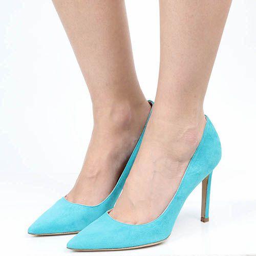 Туфли Roberto Festa из замши цвета бирюзы, фото