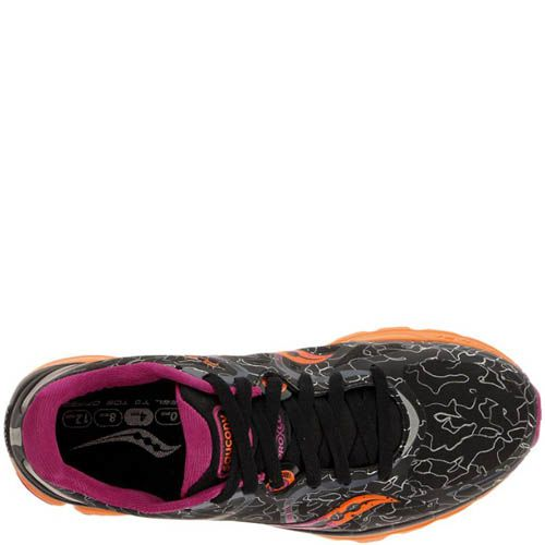 Кроссовки Saucony Kinvara 6 Runshield Black Orange Purple, фото